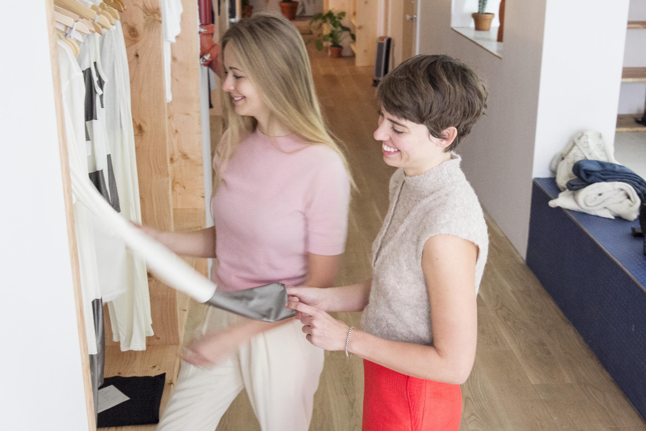 Sky Ting Yoga founders Krissy Jones and Chloe Kernaghan
