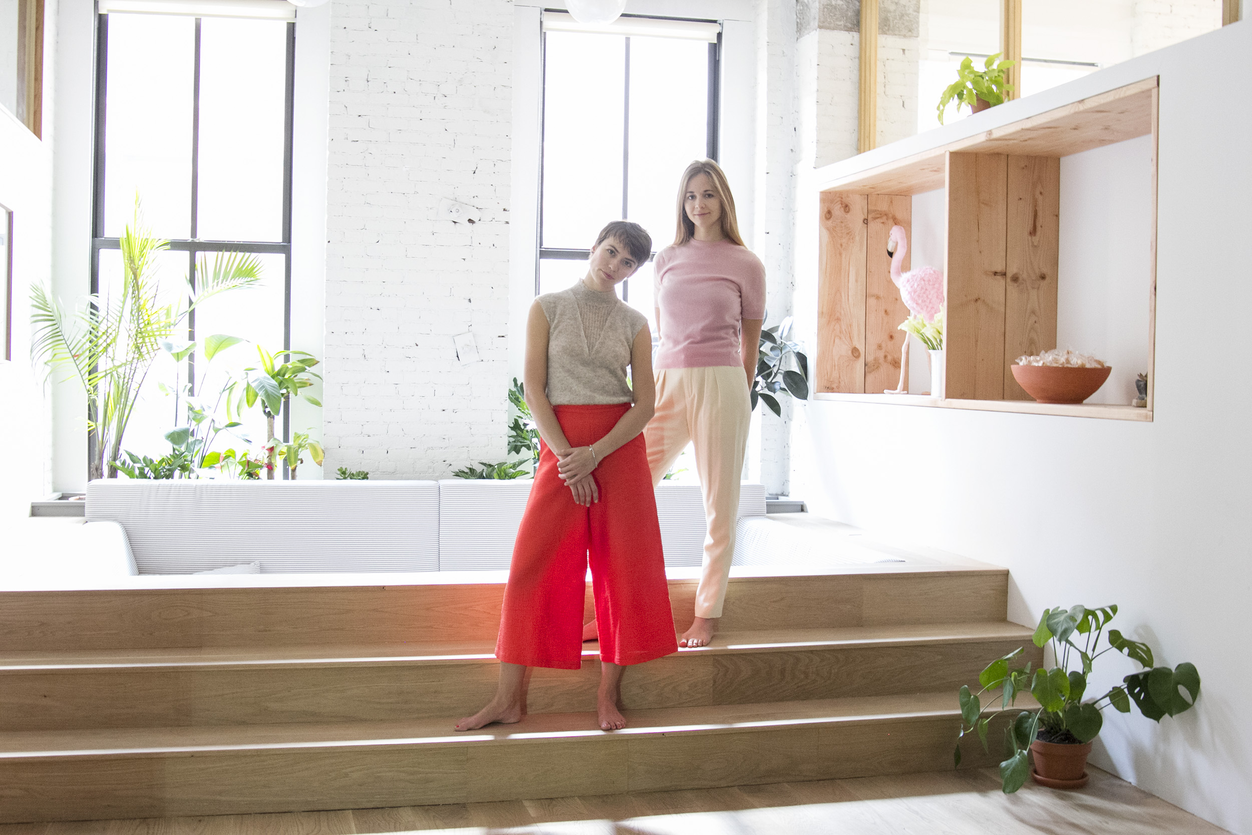 Sky Ting Yoga founders Krissy Jones and Chloe Kernaghan